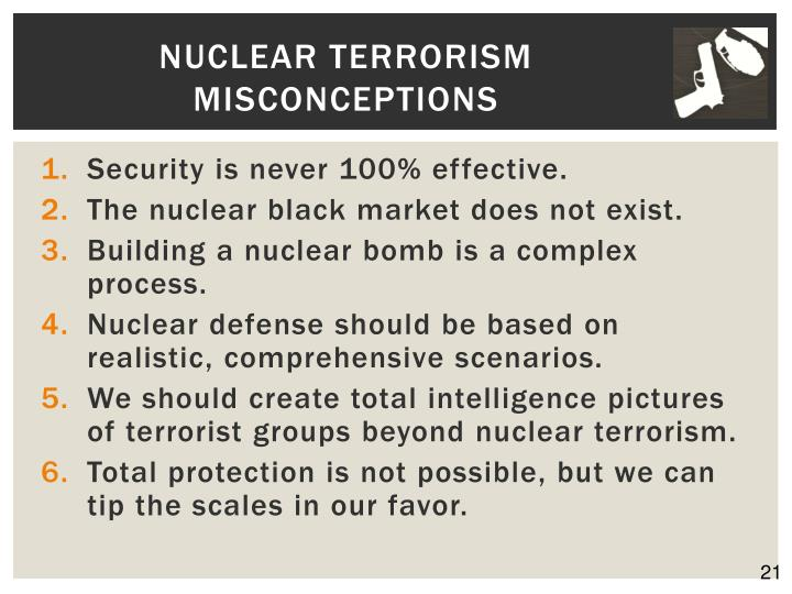 Nuclear Terrorism Misconceptions