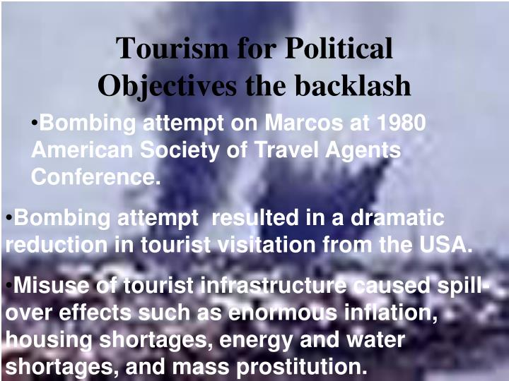 Tourism for Political Objectives the backlash