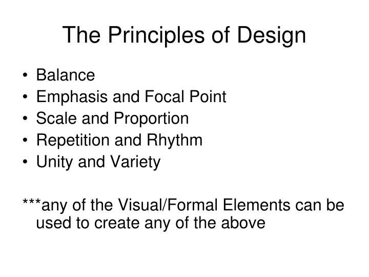 The principles of design1