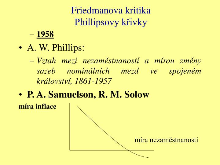 Friedmanova kritika