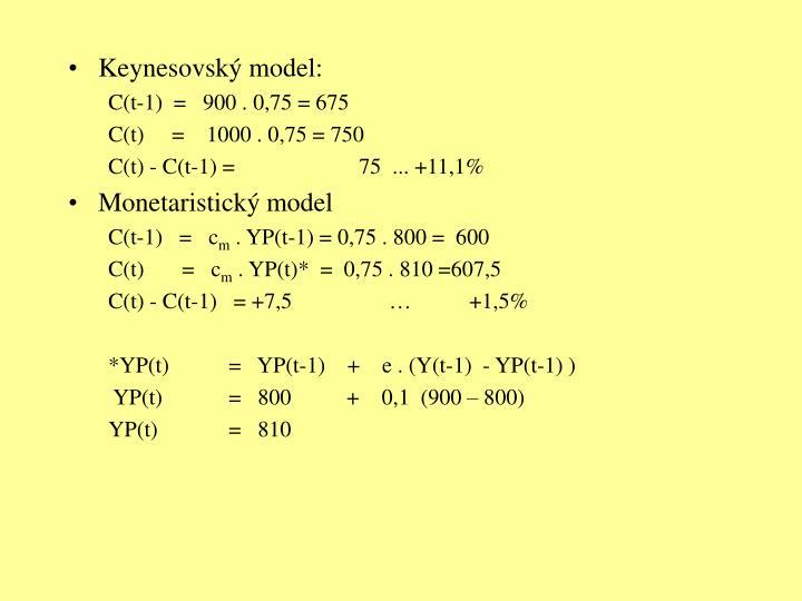 Keynesovský model: