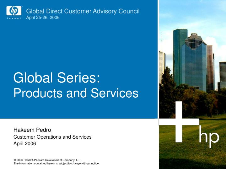 global series products and services