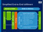 simplified end to end fulfillment