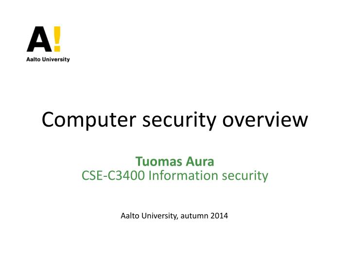 computer security overview n.