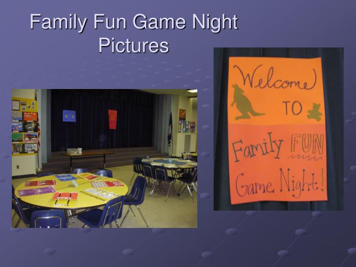 Family Fun Game Night Pictures