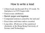 how to write a lead13