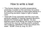 how to write a lead16