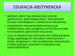edukacja abstynencka