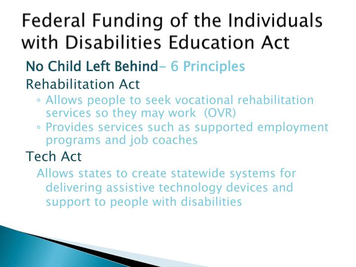 Federal Funding of the Individuals with Disabilities Education Act
