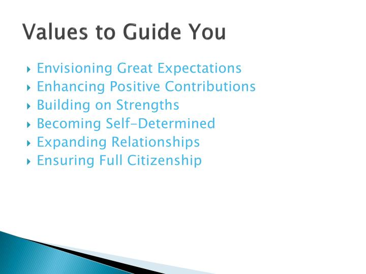 Values to Guide You
