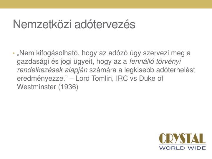 Nemzetközi adótervezés