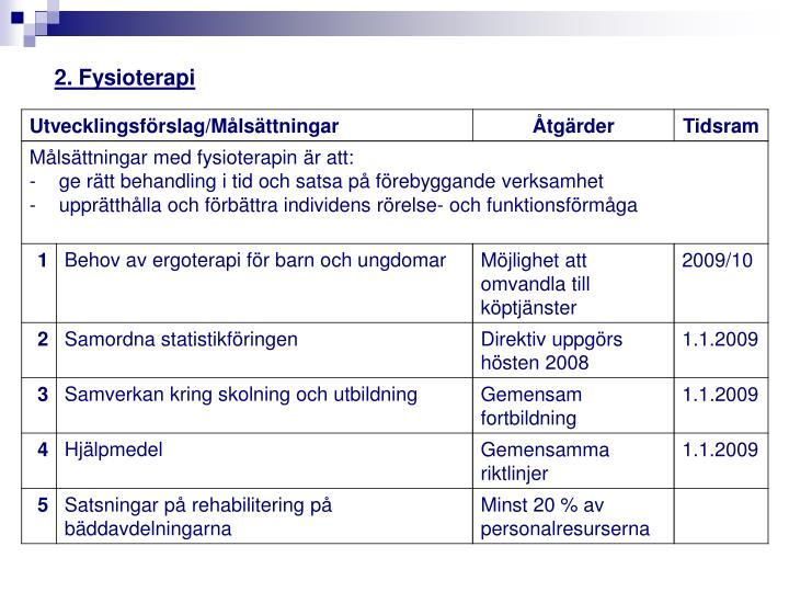 2. Fysioterapi