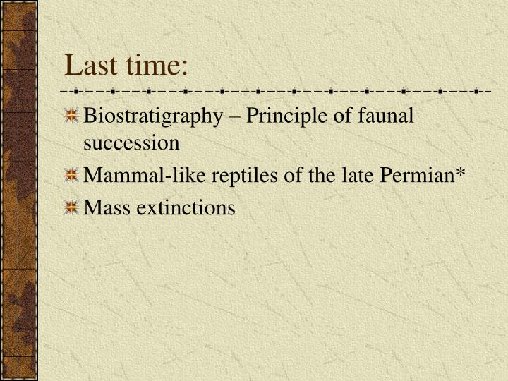 principle of faunal succession