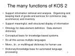 the many functions of kos 2