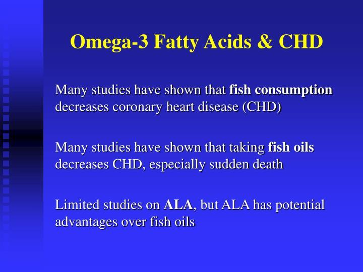 Omega 3 fatty acids chd