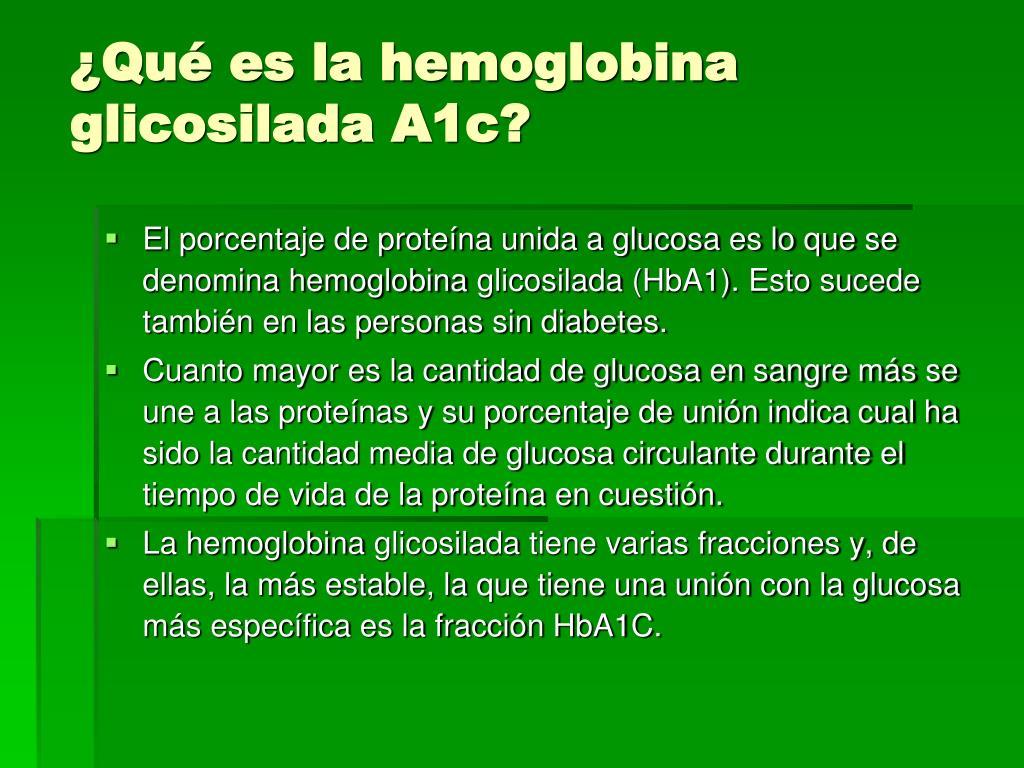 glicohemoglobina a1c definición de diabetes