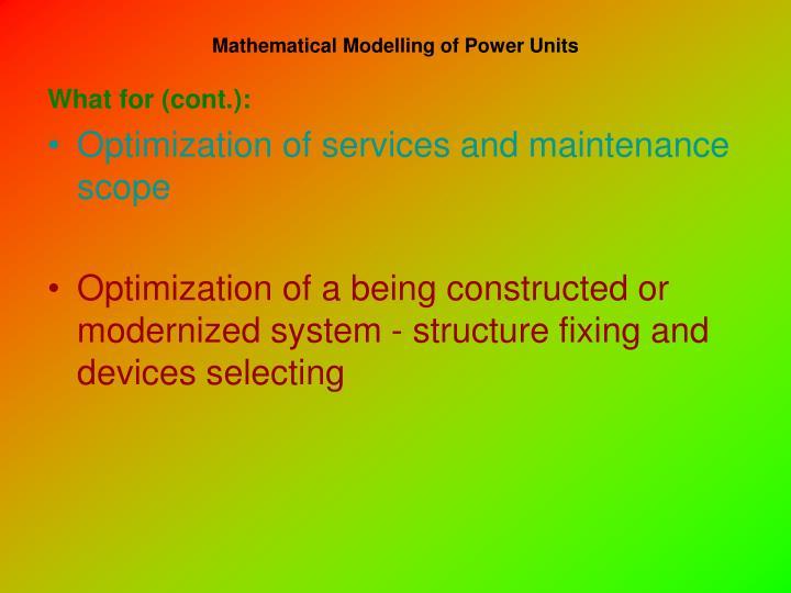Mathematical modelling of power units2