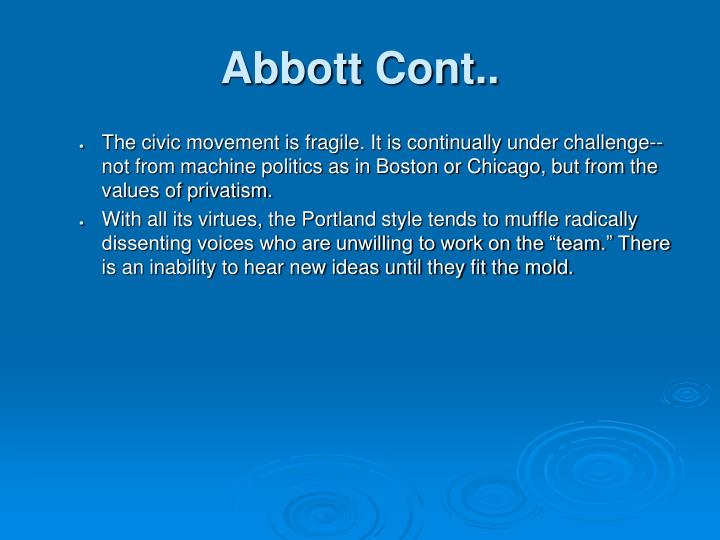 Abbott Cont..