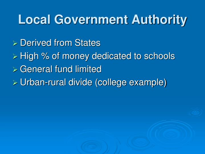 Local Government Authority