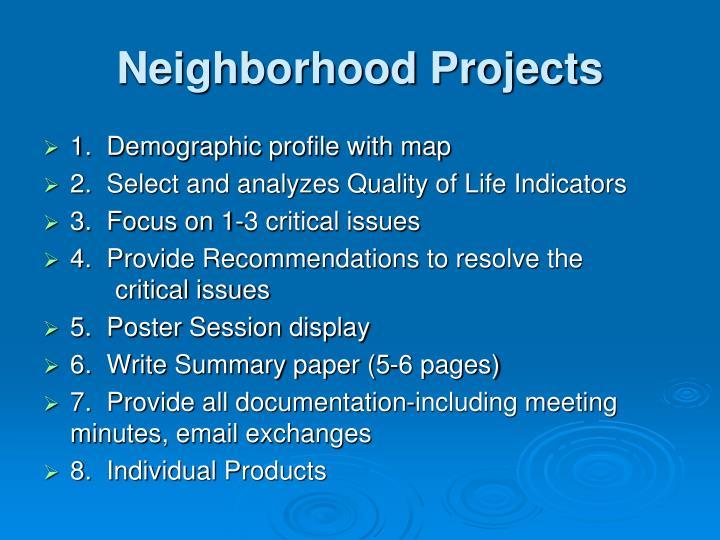 Neighborhood Projects
