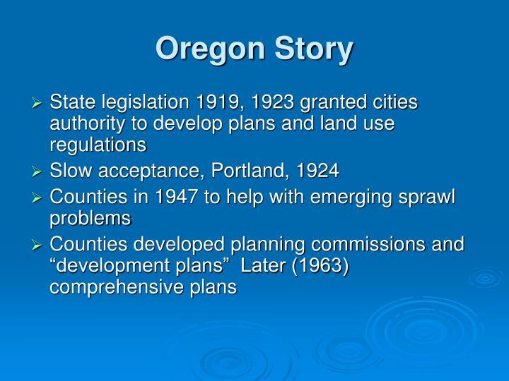 Oregon Story