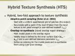 hybrid texture synthesis hts