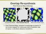 overlap re synthesis pixel traversal map ordering
