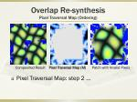 overlap re synthesis pixel traversal map ordering2