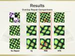 results overlap repair comparisons11