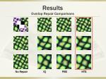 results overlap repair comparisons12