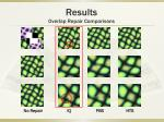 results overlap repair comparisons8