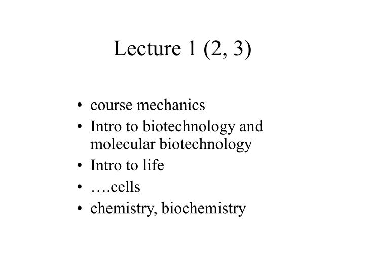 lecture 1 2 3 n.