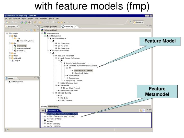 with feature models (fmp)