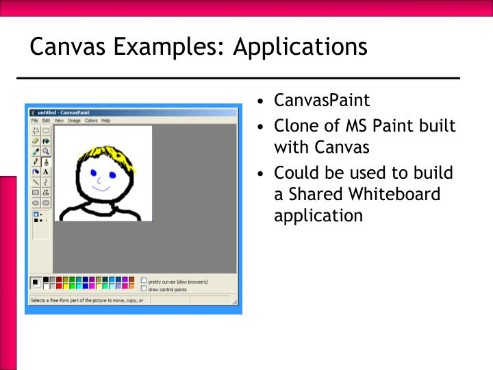 Canvas Examples: Applications