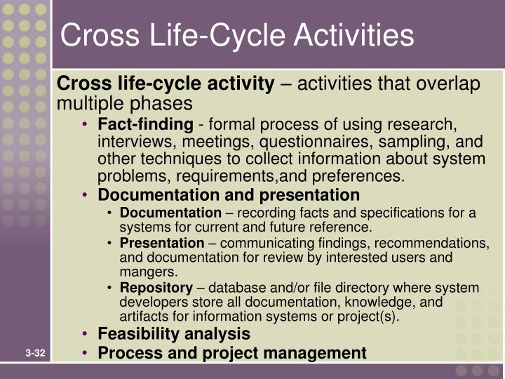 Cross Life-Cycle Activities