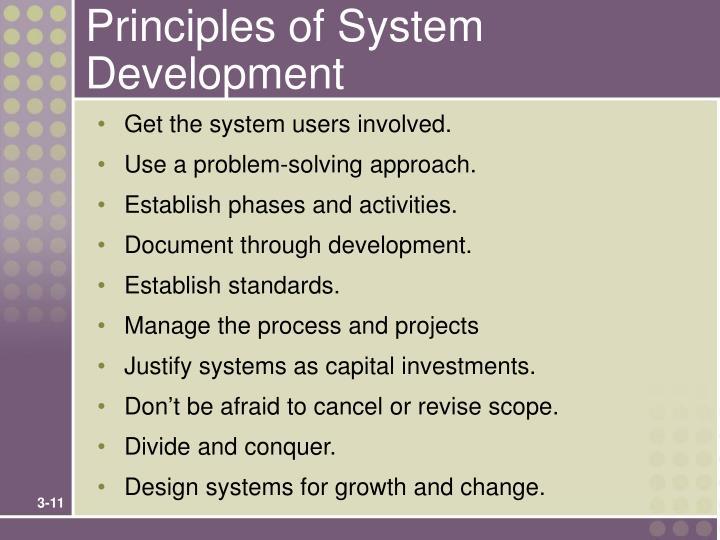 Principles of System Development