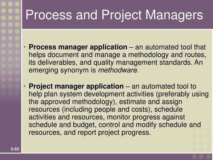 Process and Project Managers