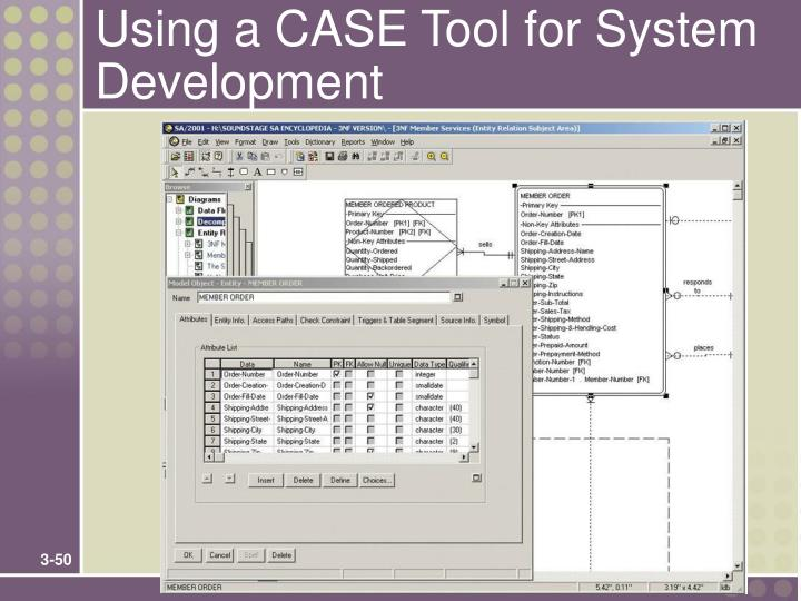 Using a CASE Tool for System Development