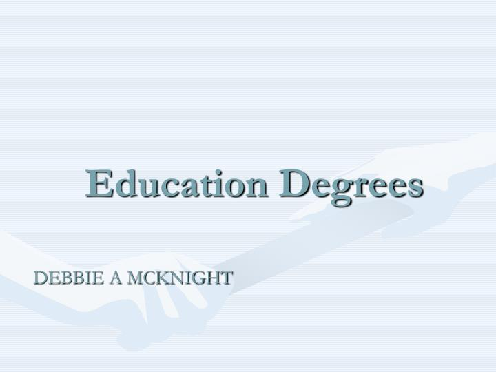 education degrees n.