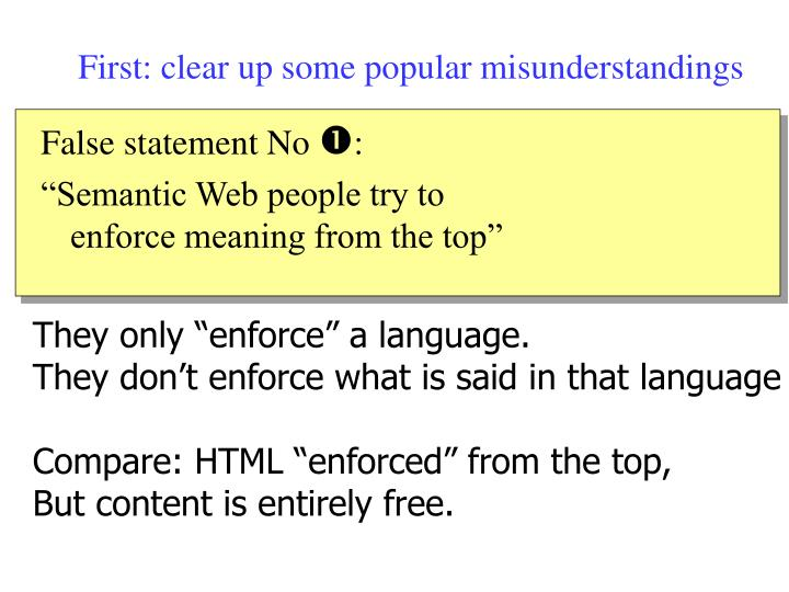First: clear up some popular misunderstandings