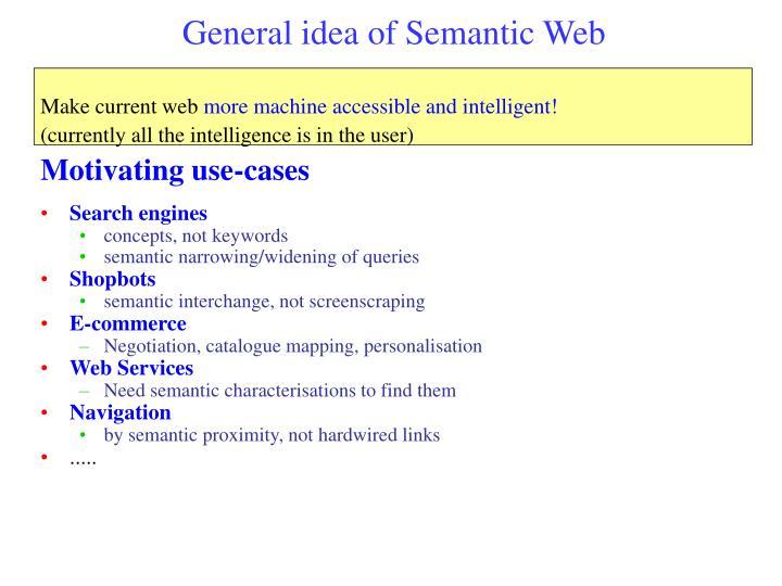 General idea of Semantic Web
