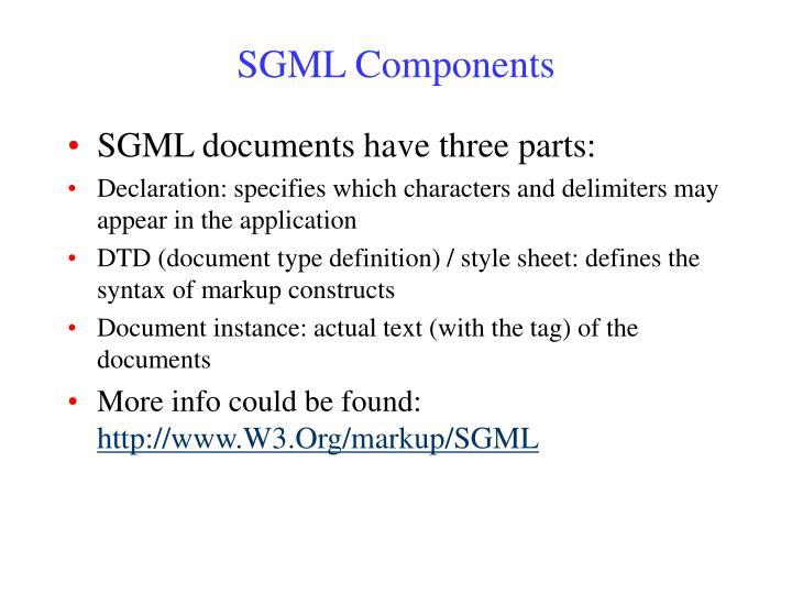 SGML Components