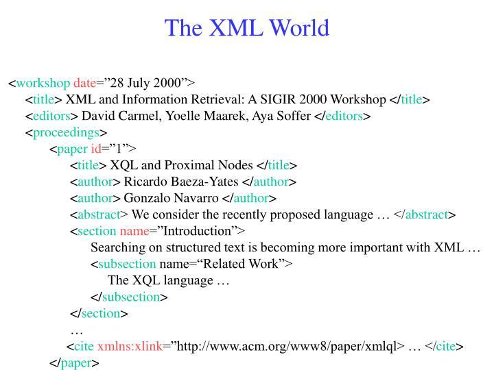 The XML World