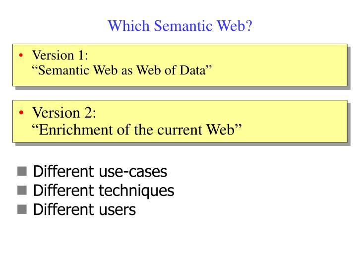 Which Semantic Web?