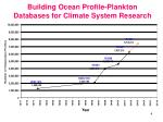 building ocean profile plankton databases for climate system research