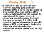 rossby 1959 1