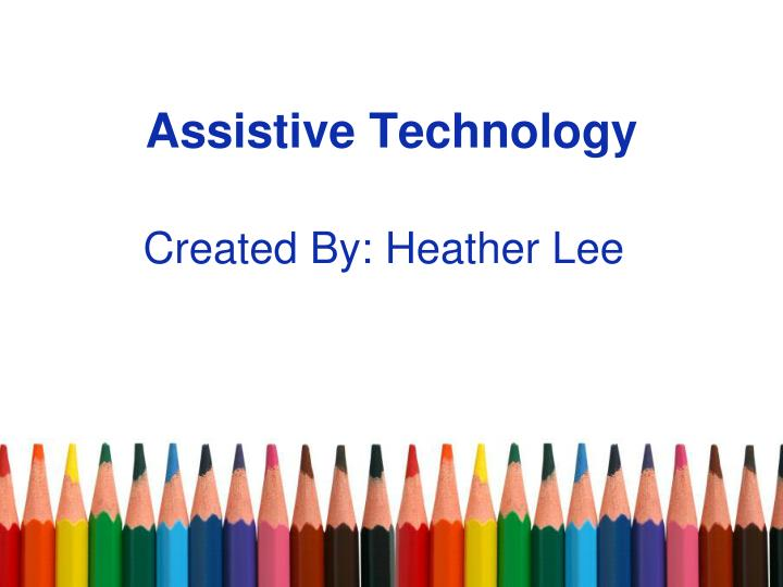 assistive technology n.