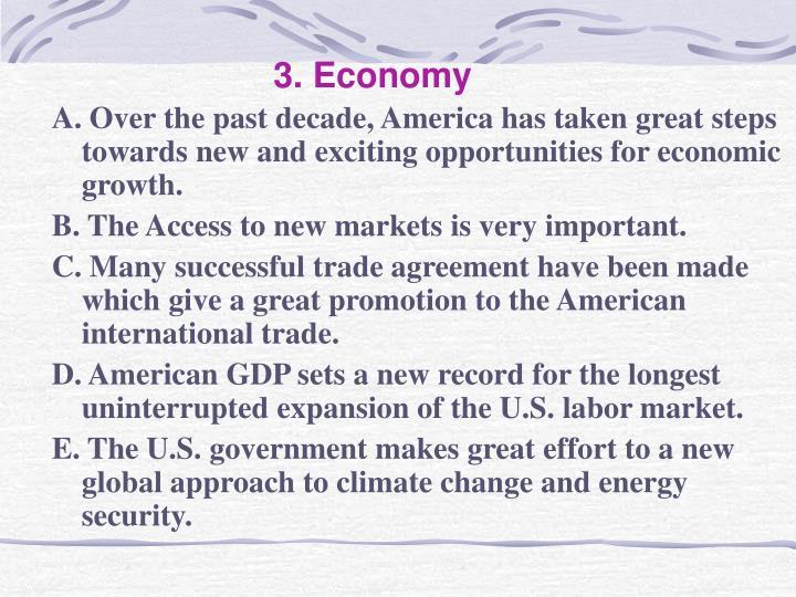 3. Economy