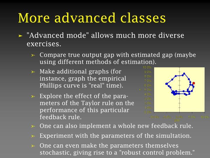 More advanced classes