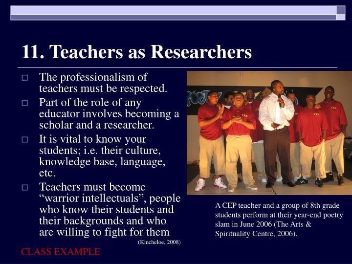 11. Teachers as Researchers